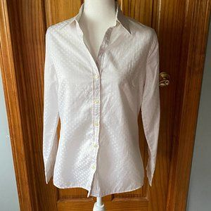 Banana Republic fitted button front shirt-white-M